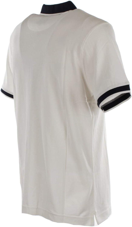 CIESSE PIUMINI Polo T-Shirt Ribbed Garment Colour Contrast Bianco 119bxx-205