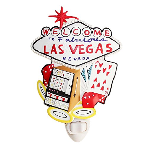 BIG Las Vegas Sign Night Light Lamp Candle Nightlight Rotating W Switch Home Decor Birthday Housewarming Congratulatory Blessing Souvenier Gift US Seller (Las Vegas -CN57)