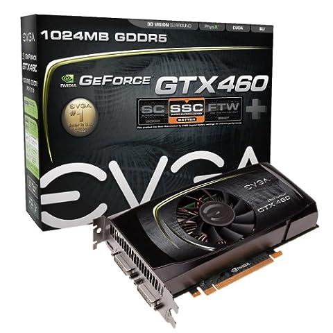 EVGA GeForce GTX460 SSC+ Graphics Card w/ Backplate (01G-P3-1380-KR) (Evga Geforce Gtx 460 1 Gb Gddr5)