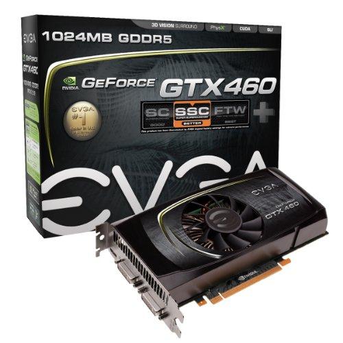 EVGA GeForce GTX460 SSC+ Graphics Card w/ Backplate (01G-...