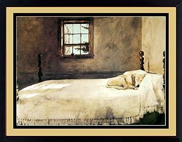 Amazon.com: Master Bedroom By Andrew Wyeth Dog Sleeping 20x17 ...