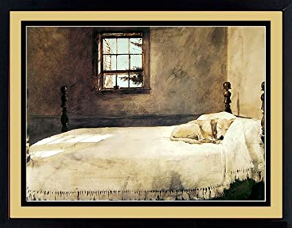 . Master Bedroom By Andrew Wyeth Dog Sleeping 20x17 Inches