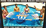 Wow Watersports Aqua PongPool Lounge Beer Pong Inflatable with Social Floating, The Air Pong Table - The Portable, Inflatable Beer Pong Table