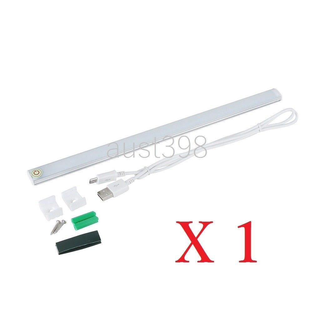USB LED Schreibtischlampe Leiste Lichtleiste Touch Tischleuchte zum lösen Laptop Studie AUS, 1 X LED USB Licht