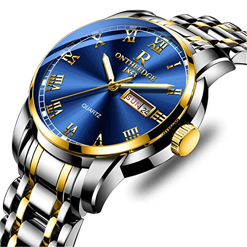 Watch for Men Waterproof Stainless Steel Sport Analog Quartz Watch Gents Fashion Business Dress Wrist Watch