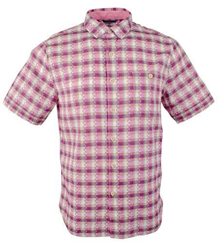 Tommy Bahama Men's La Veleta Check Camp Shirt-SG-XL Sparkling Grape