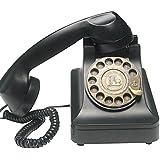 黒電話 ノスタルジック アイテム 懐かしい 黒電話風 回転 ダイヤル式 電話機 オシャレ 黒 ブラック インテリアとしても最適