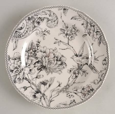 222 Fifth Adelaide Electroplate Silver Salad Plate Set of Four 8 3/4