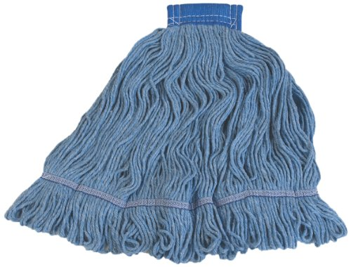 Carlisle 36946014 Looped-End Premium Mop Head With Blue Band, X-Large, Blue by Carlisle (Image #2)
