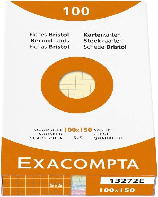 Exacompta Index Cards 5X8 Inch 100 Pack