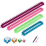 Arts & Crafts : Readaeer Long Knitting Looms Set Craft Kit Tool with Hook Needle and Pompom Maker