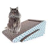 Cat Scratch Pad,Scratcher with Catnip,Scratching Posts,Cat Toy Scratch Board Lounge with Bell-Ball (6.42''x16.54''x9.05'')