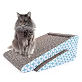 cat scratch pad,scratcher with catnip,scratching posts,cat toy scratch board lounge with bell-ball