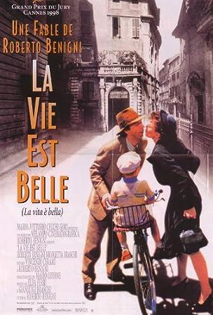 La vida es bella Póster de película francesa en 69 cm x 92 cm 27 x 36 - Roberto Benigni Nicoletta Braschi Giustino Durano Sergio Bustric Horst Buchholz ...
