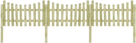 ghuanton Valla de jardín 4 Postes Madera Pino impregnada FSC 510x100 cmBricolaje Vallas de jardín Paneles de Vallas: Amazon.es: Hogar