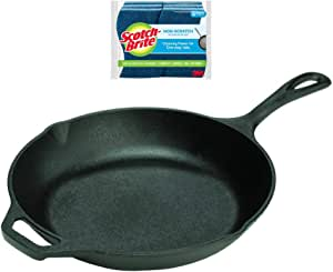 BUNDLE 10 Inch Cast Iron Chef Skillet and 🎁 free GIFT (6 Count Sponges)