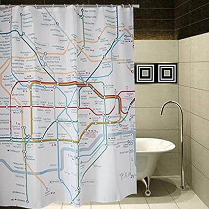 Lovely Amazon.com: BetterJonny - London Subway Tube Map Bathroom  DN77