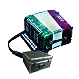 Mirage B6108GTC 2-Row Button Key Diatonic Accordion in Marbleized Tri-Color Mexican Flag-Style Finish