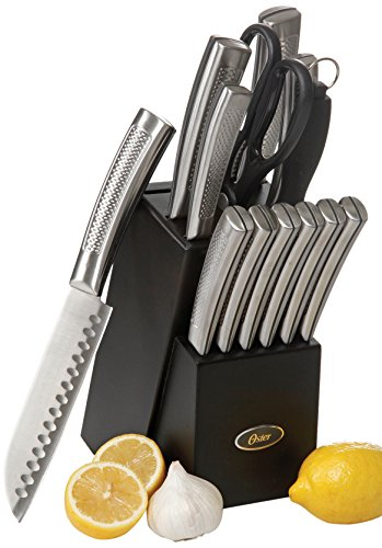 Oster 92272.14 Wellisford 14 Piece Stainless Steel Cutlery Set with Black Block, Black