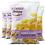 Wickedly Prime Plantain Chips, Roasted & Salted, 12 Ounce (Pack of 4)