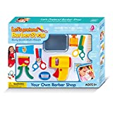 WPS Play Accessories Barber Shop Salon Hairstyle Play Set Kit with Clipper for Kids Pretend to Cut Hair Gift 115b