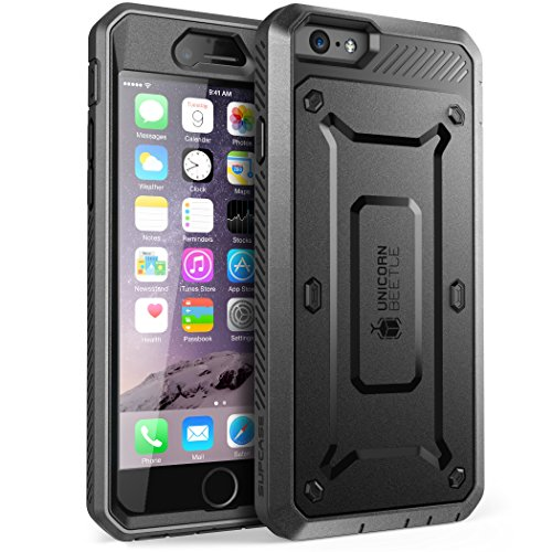 SUPCASE [Unicorn Beetle Pro Series] Case Designed for Apple iPhone 6 Plus 5.5 Inch display w/ Built-in Screen Protector (Black)