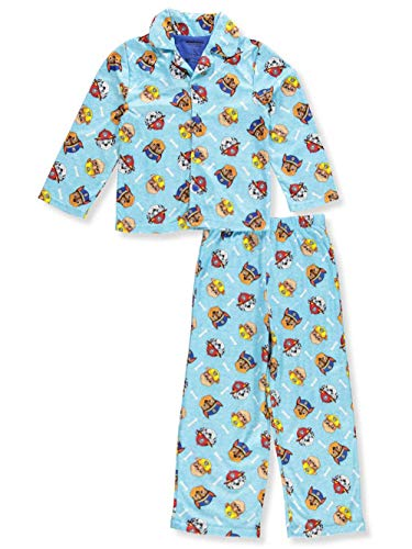 Nickelodeon Boys' Toddler Paw Patrol 2-Piece Pajama Coat Set, Safety Crew Blue 2T ()