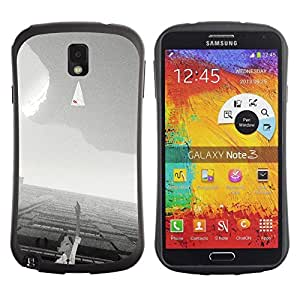 """Hypernova Slim Fit Dual Barniz Protector Caso Case Funda Para Samsung Note 3 [Significado Blanca Cielo motivación Negro""""]"""