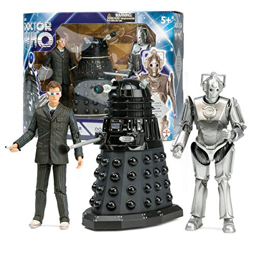 Doomsday Figure Set - Underground Toys Doctor Who Doomsday Action Figure Box Set: 10th Dr, Dalek Sec, Cyberman