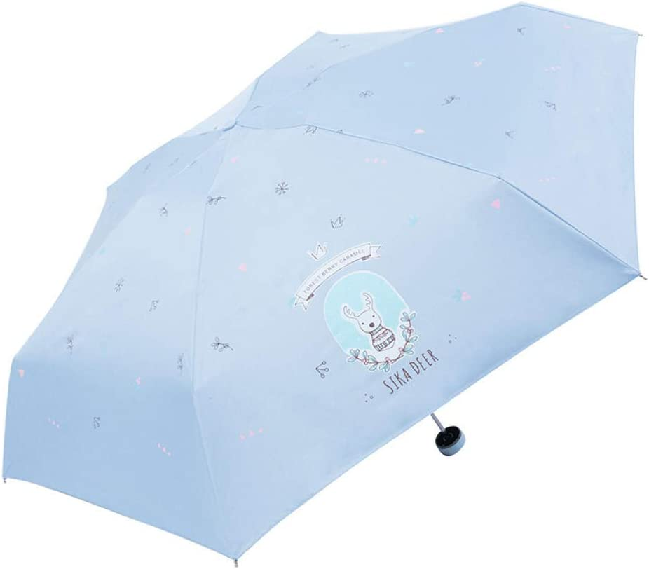 Umbrella Folding Parasol Sunscreen Anti-Uv Sun Umbrella Windshield Rain Portable Umbrella@Light Pink