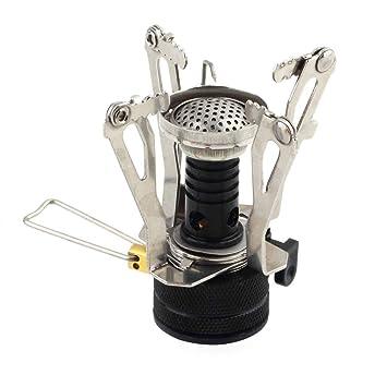qyoung Picnic butano Gas Grabadora, portable camping Mini Acero Horno Caso, hornillo de gas