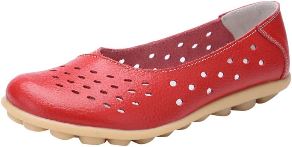 AG&T Zapatos de Mujer de Gran tamaño Zapatos cómodos Huecos Zapatos Planos Casuales Diarios Zapatos cómodos Antideslizantes clásicos: Amazon.es: Deportes y aire libre