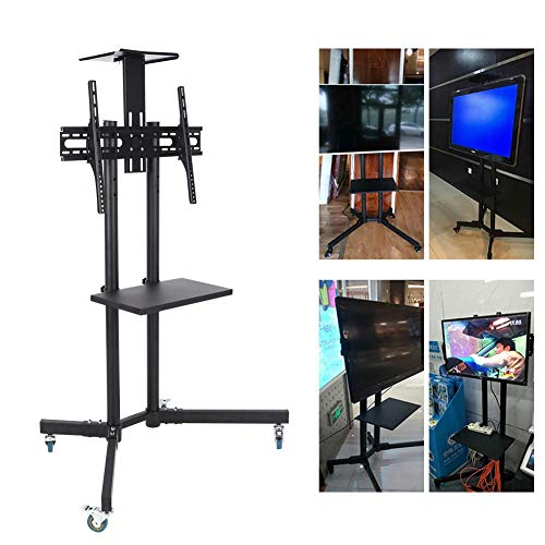 Wal front TV Mount,Mobile TV Cart Adjustable Stand Mount for 32-65 Inch LCD/LED Flat Panel Screen with Wheels (1203911) by Wal front (Image #5)