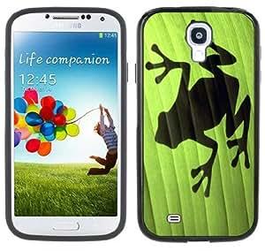 Frog Leaf Shadow Samsung Galaxy S4 Black Bumper Hard Plastic Case