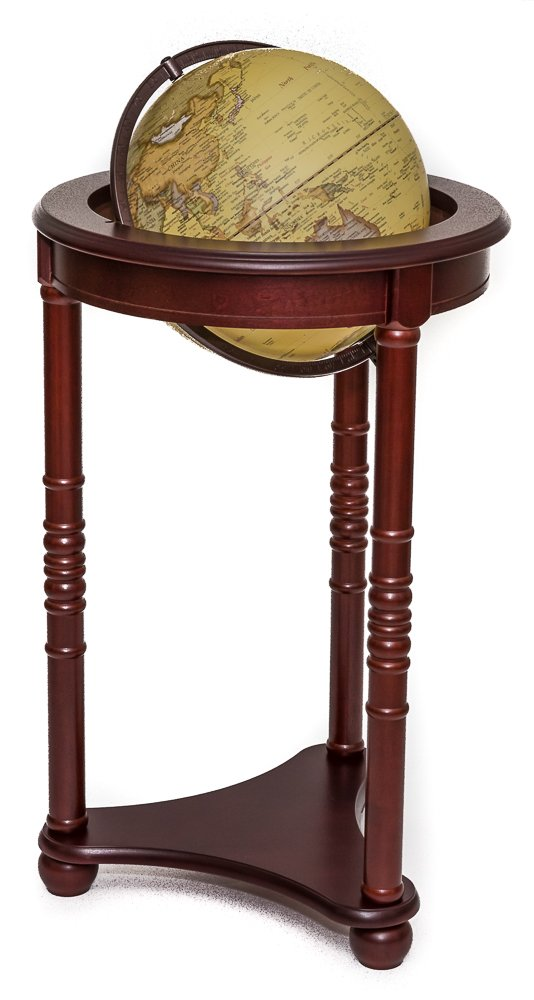Bello's Deluxe Lighted Globe with Mahogany Stand 12''