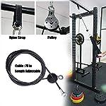 HYJMJJ-2M-Polso-Roller-Trainer-Braccio-Forza-di-Formazione-Ginnico-Fai-da-Te-Pulley-Cable-System-per-Bassi-Tirare-LAT-riccioli-Bicipite-tricipiti-Estensioni-Fitness-Gym-WorkoutPaquete-2