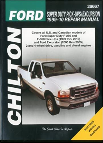 Ford super duty pick ups excursion 1999 2010 chiltons total car ford super duty pick ups excursion 1999 2010 chiltons total car care repair manual 1st edition fandeluxe Gallery