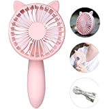 ZXK CO Mini Handheld Portable Outdoor Fan Adjustable with ABS and Electronic Material for Home Office Desktop Travel- Pink Totoro