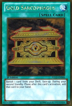 Yu-Gi-Oh! - Gold Sarcophagus (PGLD-EN068) - Premium Gold - 1st Edition - Gold ()