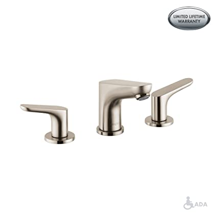 Hansgrohe 04369820 Focus E Widespread Faucet Brushed Nickel