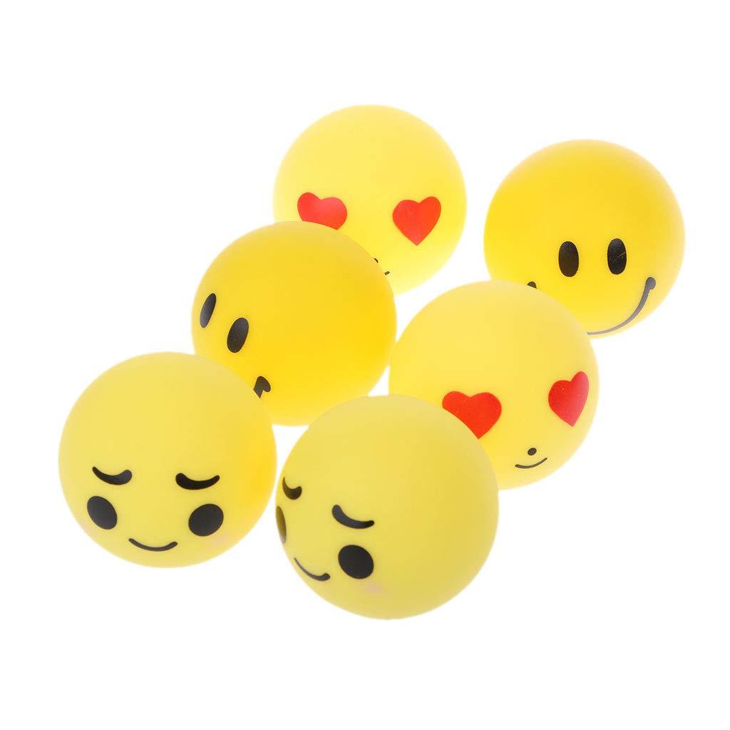 Manyo 6 Stücke Emoji Bälle Schwimmen Wasser Spielzeug Weiche Schwimm Squeeze Sound Bade Spielzeug Für Kinder Badespielzeug