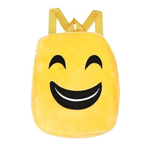 Mochila de Felpa, Holacha Bolso Backpack Cartera Emoji Dibujos Animados Amarillo Bolso para Chico Chica