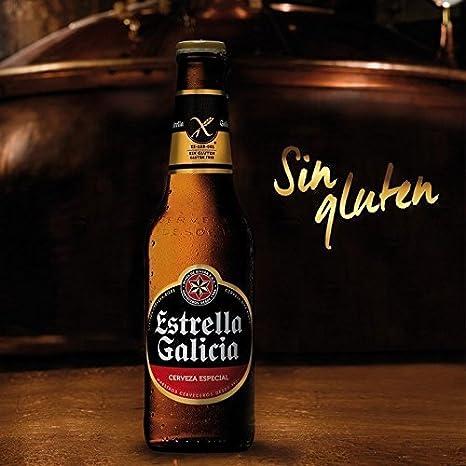 Estrella Galicia Sin Gluten Botella 25cl PACK DE 6: Amazon.es: Alimentación y bebidas