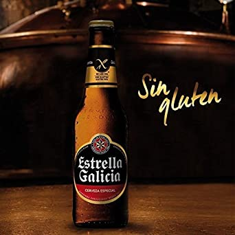 Estrella Galicia Sin Gluten Botella 25cl PACK DE 6: Amazon ...