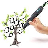 Amzdeal 3D Stylo Impression Pen Intelligent Pour Dessin 3D et Griffonnage, Compatible avec PLA Filament , Avec 2 Filament (2 couleurs aléatoires ) Meilleur Cadeau Pour Enfant et Adulte