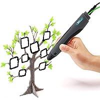 Amzdeal 3D Stylo Impression Pen Intelligent Pour Dessin 3D, Avec 2 PLA Filament (2 couleurs aléatoires ) Meilleur Cadeau Pour Enfant et Adulte