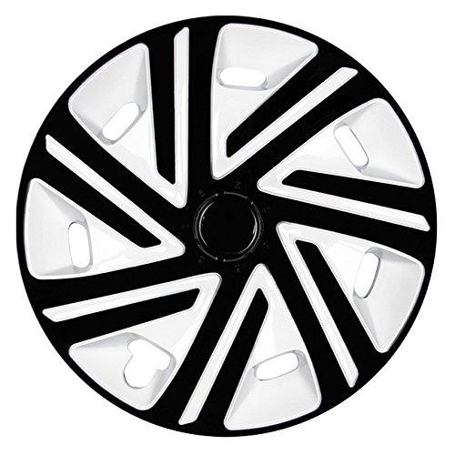 (tamaño a elegir) Tapacubos/Cyrkon Tapacubos Blanco/Negro apto para casi todos los tipos de vehículos (universal): Amazon.es: Coche y moto