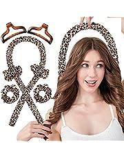 Heatless Curling Rod Silk Headband, No Heat Curls Hair Rollers with Ribbons Sleeping Soft Wave Formers Hair Curlers DIY Hair Styling Tools for Long Medium Hair