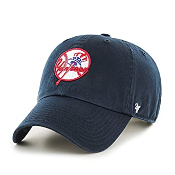 c2889aa6f3f Image Unavailable. Image not available for. Color  New York Yankees Hat MLB  Cooperstown Logo Authentic 47 Brand Clean Up ...