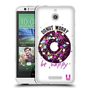 Head Case Designs Do Nut puns Soft Gel Funda para móviles HTC 2, compatible con Kompatibilität: HTC Desire 510